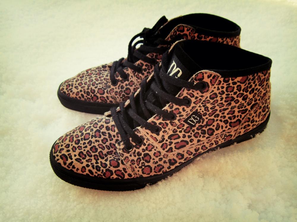 dc leopard print bristol mid le shoes