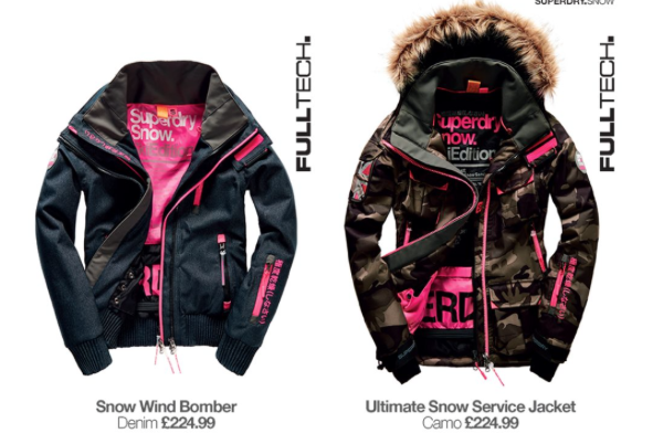 Superdry Snow Wind Bomber & Ultimate Snow Service Jacket